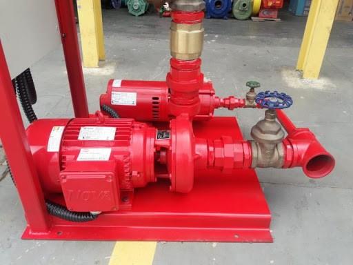 Instalação de bombas de incêndio